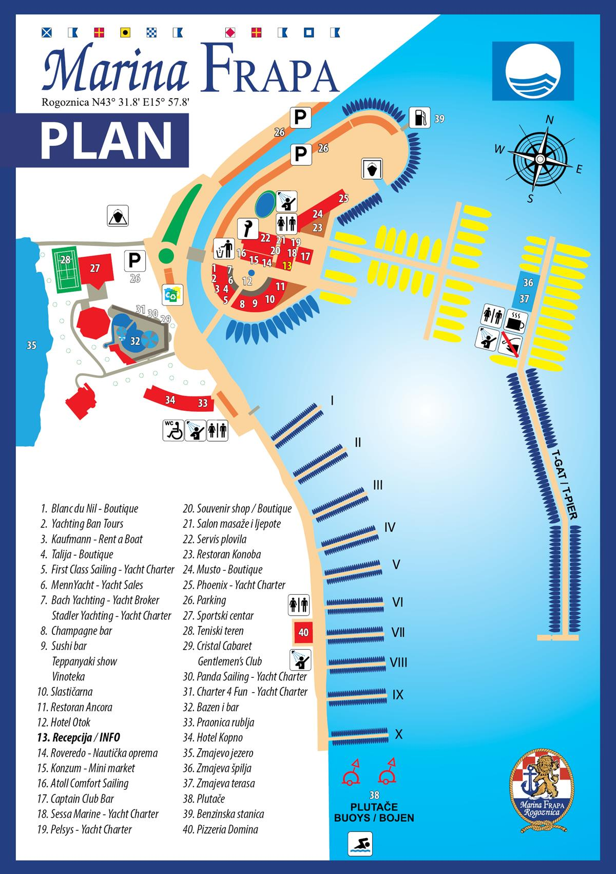 Plan - Marina Frapa Resort Rogoznica - new
