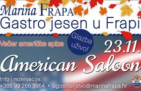 Gastro Fall in Frapa: Fall in Frapa begins with the American Saloon Evening